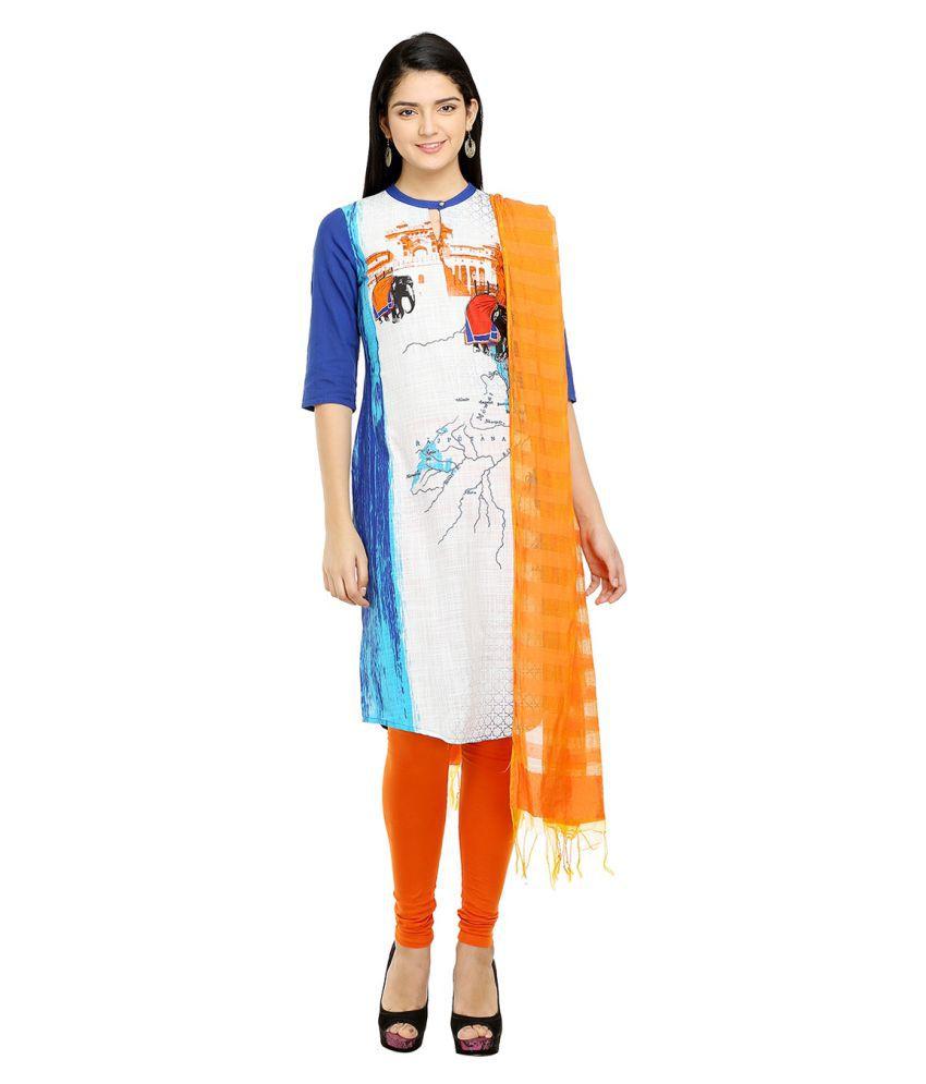 Aurelia Multicoloured Cotton Straight Kurti
