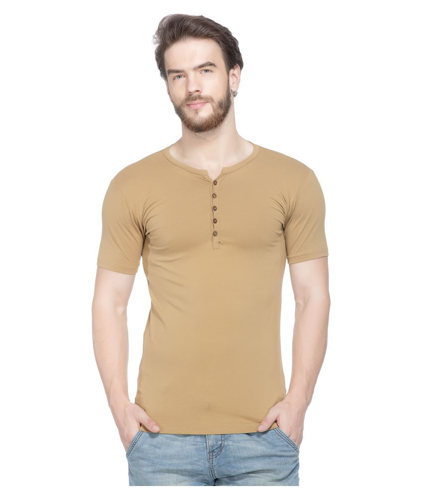 Tinted Khaki Henley T-Shirt