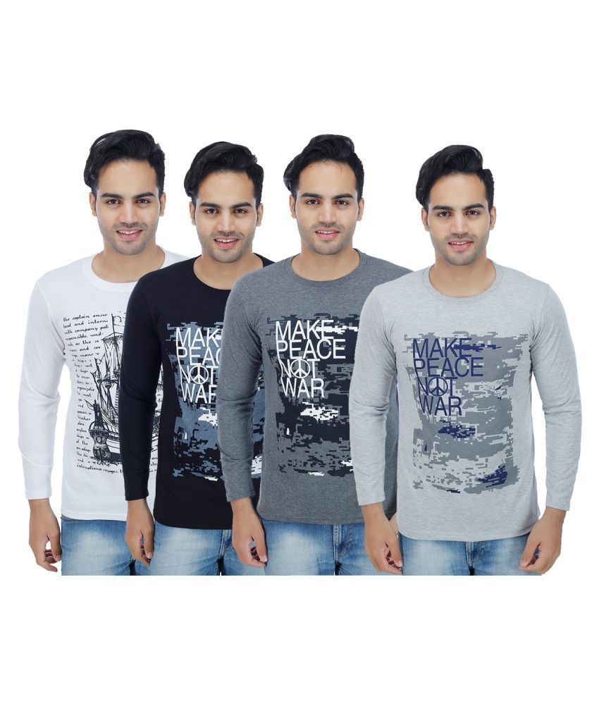 Christy World Multi Round T-Shirt Pack of 4