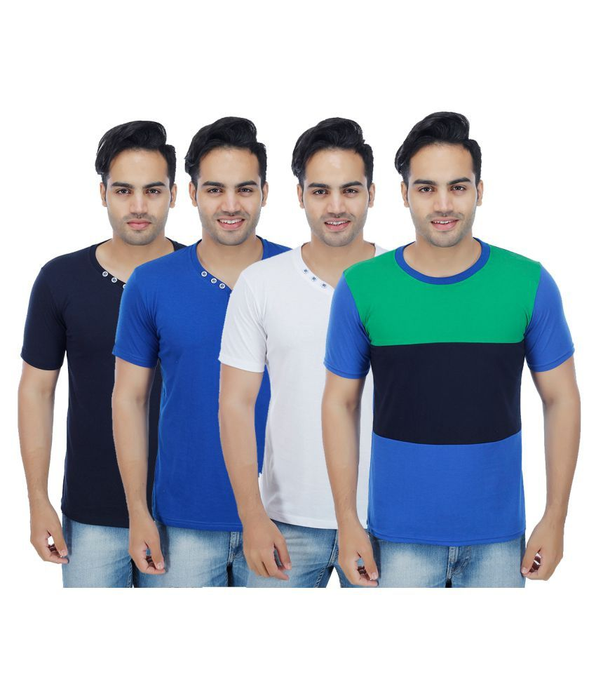 Christy's Collection Multi Henley T-Shirt Pack of 4