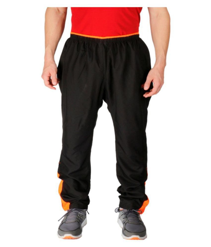Vector X Black Polyester Trackpants