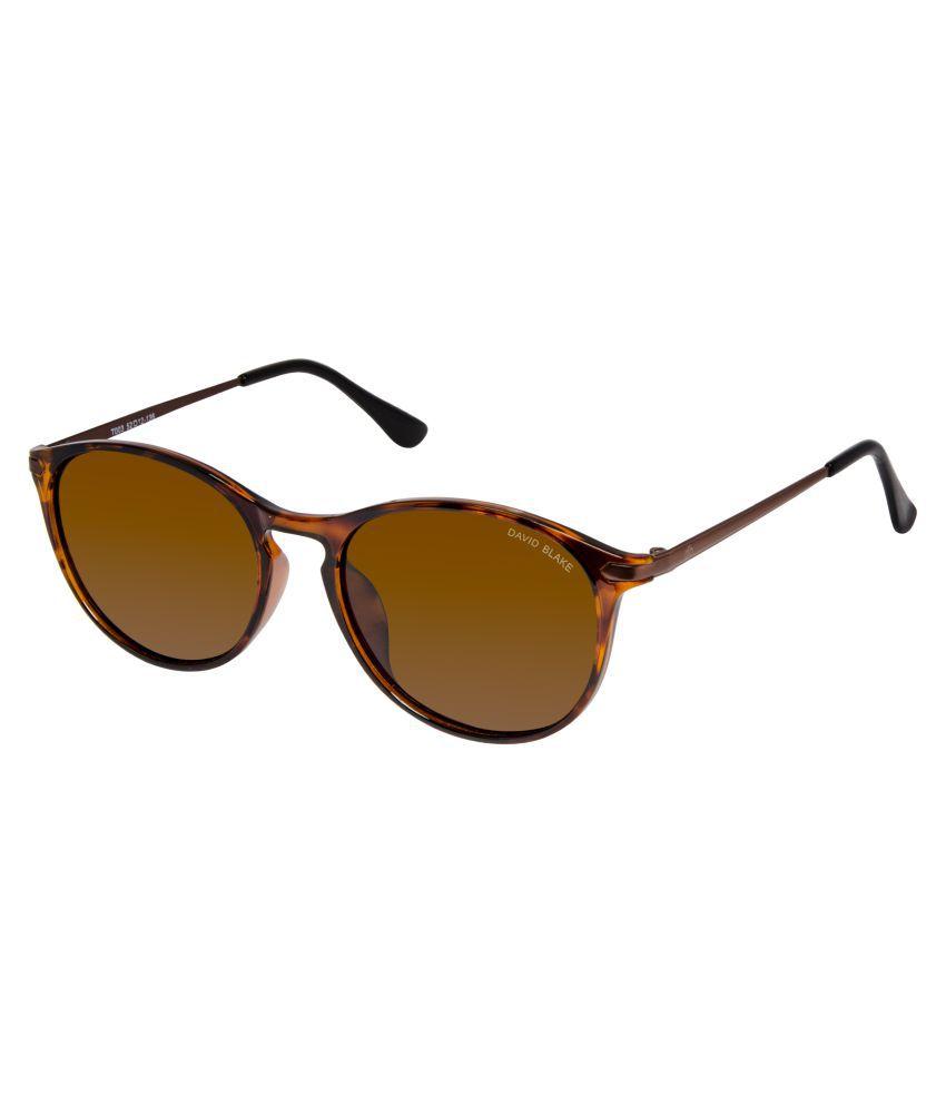 David Blake Brown Round Sunglasses ( T003 )