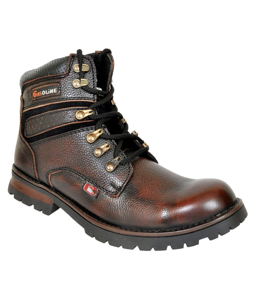 Gasoline Brown Party Boot