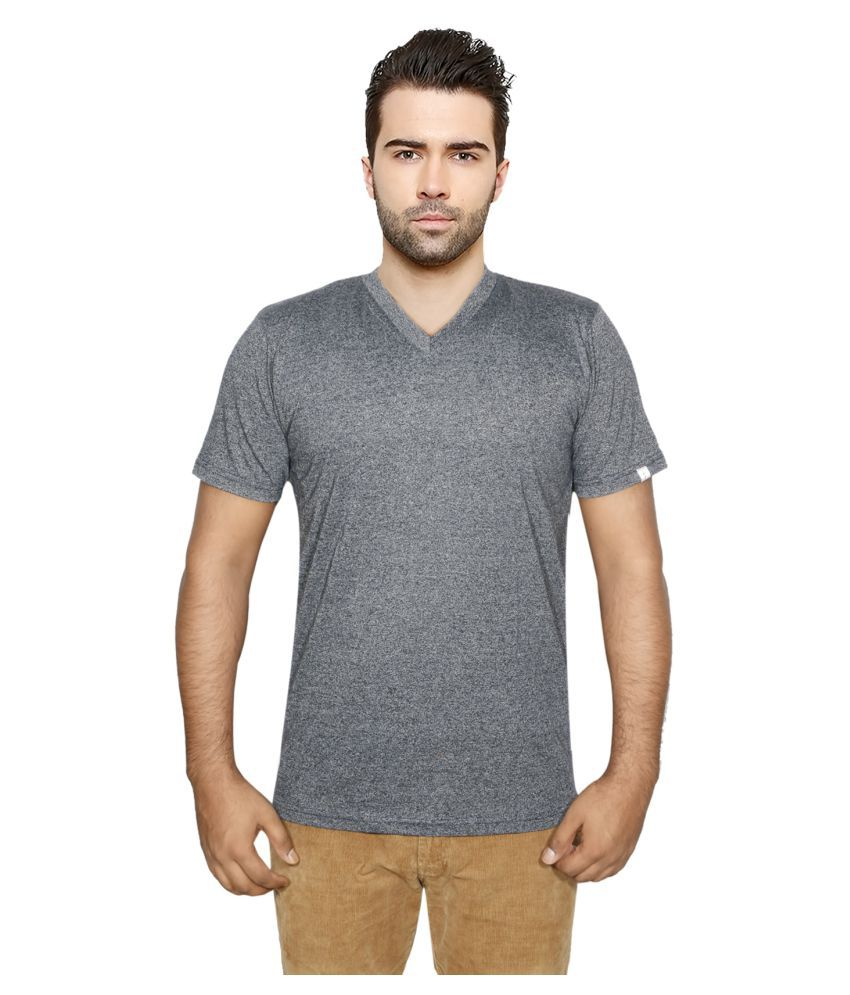 IndiWeaves Grey V-Neck T-Shirt