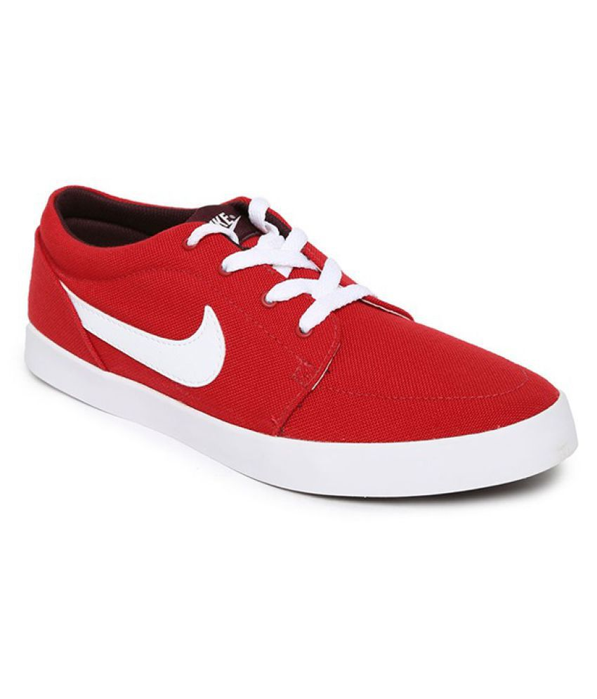 Nike shoes casual men red