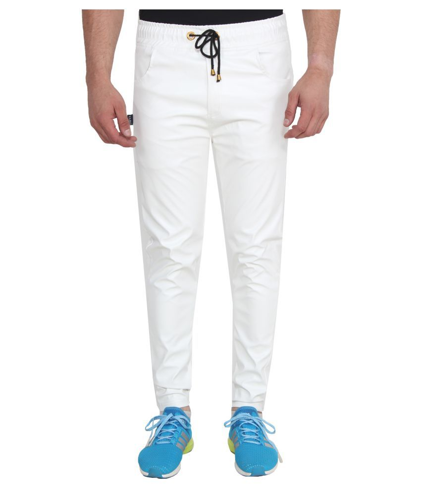 new cheap many fashionable get cheap Varo White Cotton Trackpants
