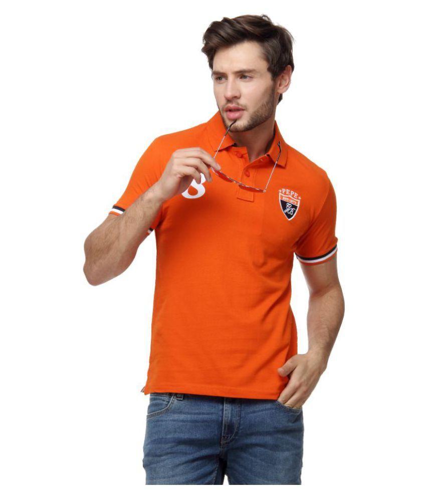Pepe Jeans Orange Slim Fit Polo T Shirt