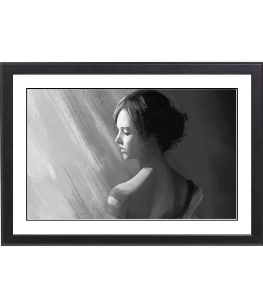 Craftsfest BEAUTIFULL MODERN GIRL MDF Painting With Frame- (30cmX20cmX1.5cm)