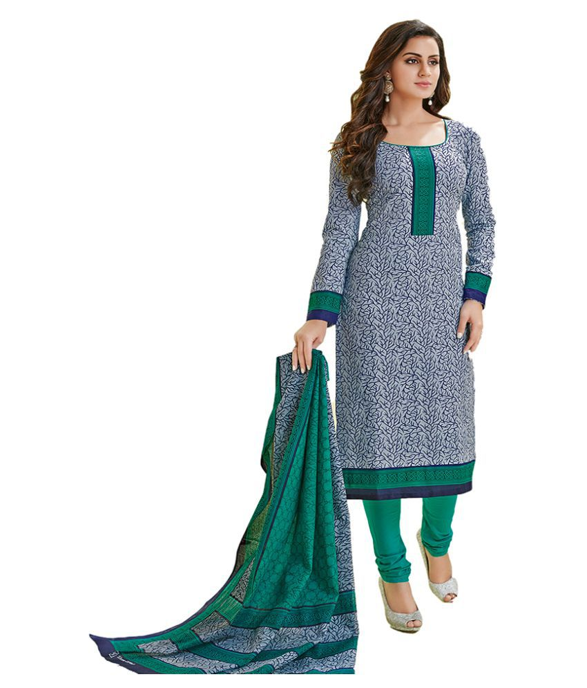 Chatri Fashions Grey Cotton Dress Material