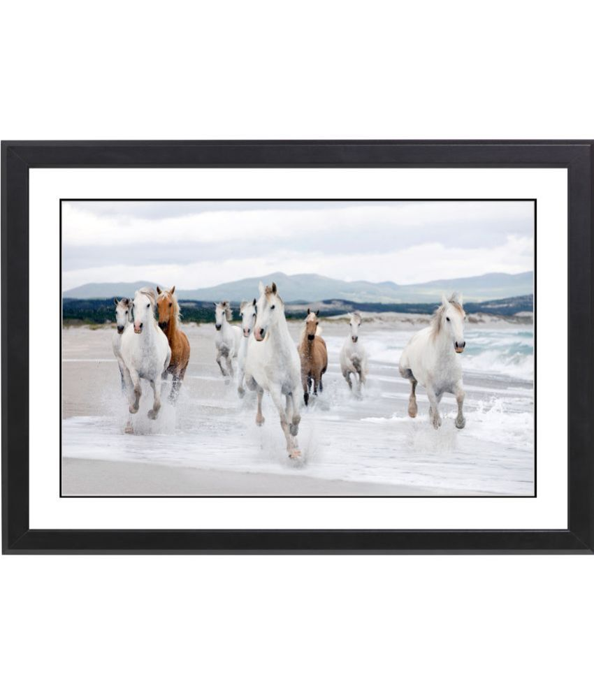 Craftsfest Vaastu Running Horse MDF Painting With Frame