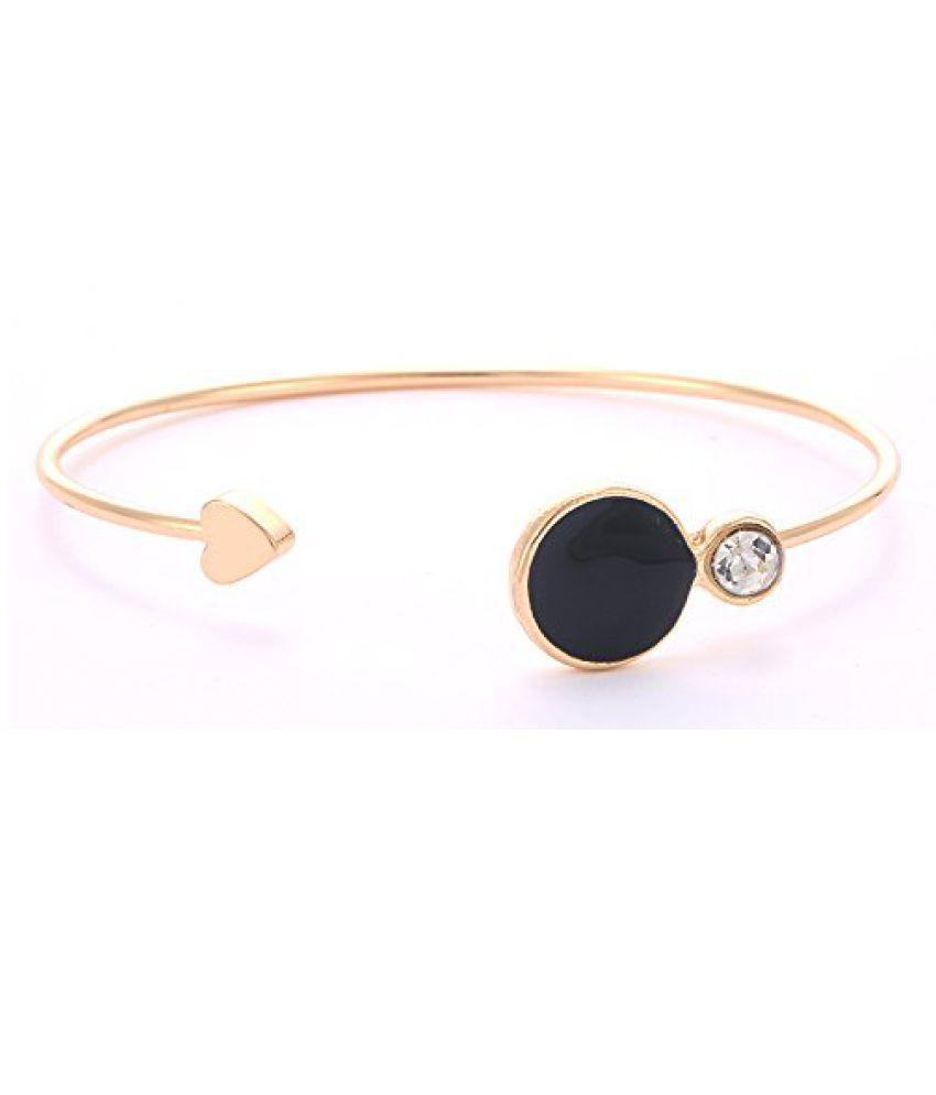 Prita's Valentine's day Special Gold-Plated Black Beads Party Wear/ Daily Wear Bracelet For Women and Girls