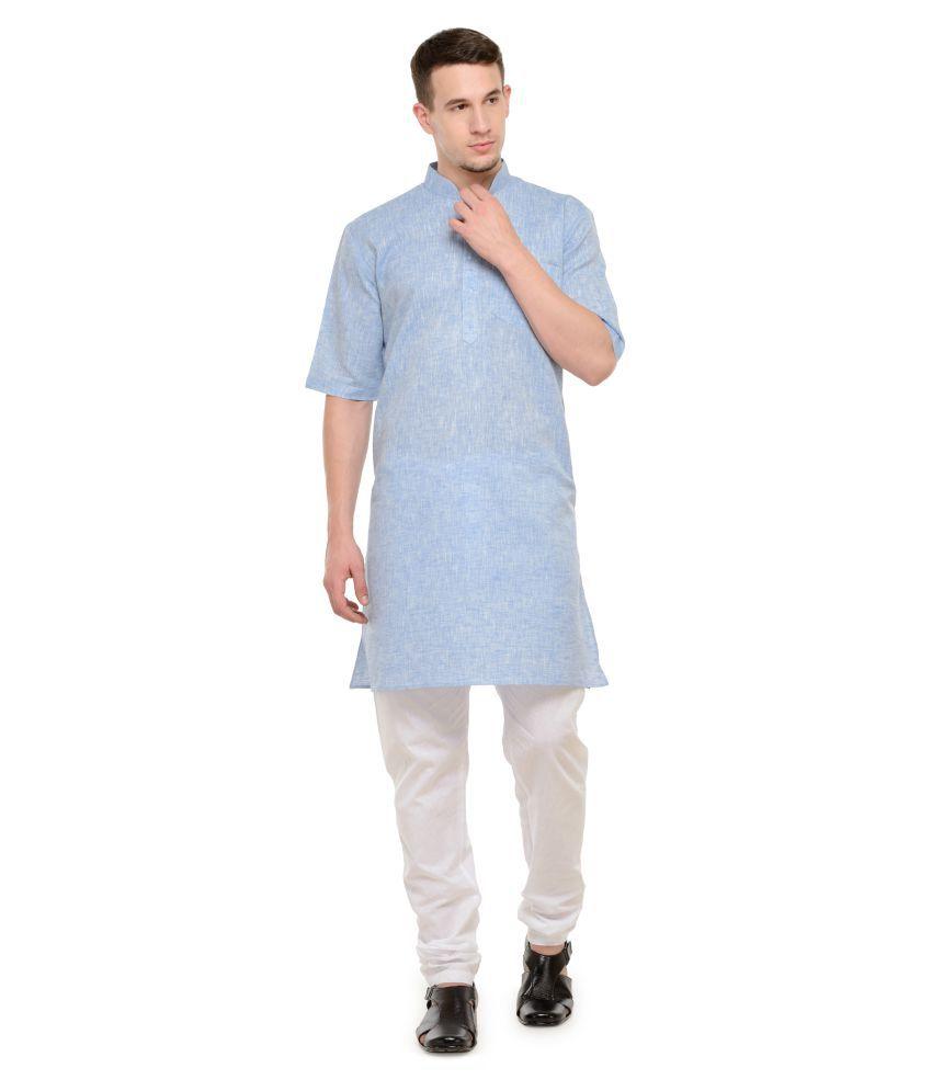 RG Designers Multi Cotton Kurta Pyjama Set
