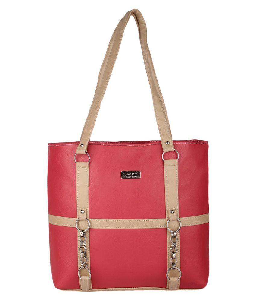 Farandine Pink P.U. Shoulder Bag