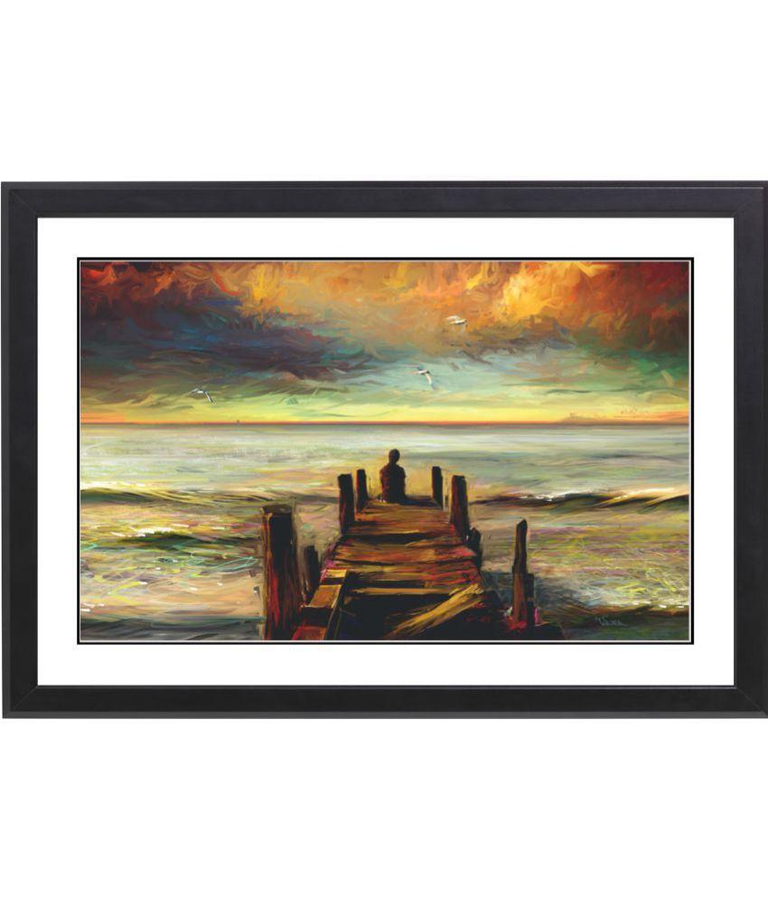 CRAFTSFEST LORD GANESHA MDF Painting With Frame- (30cmX20cmX1.5cm)