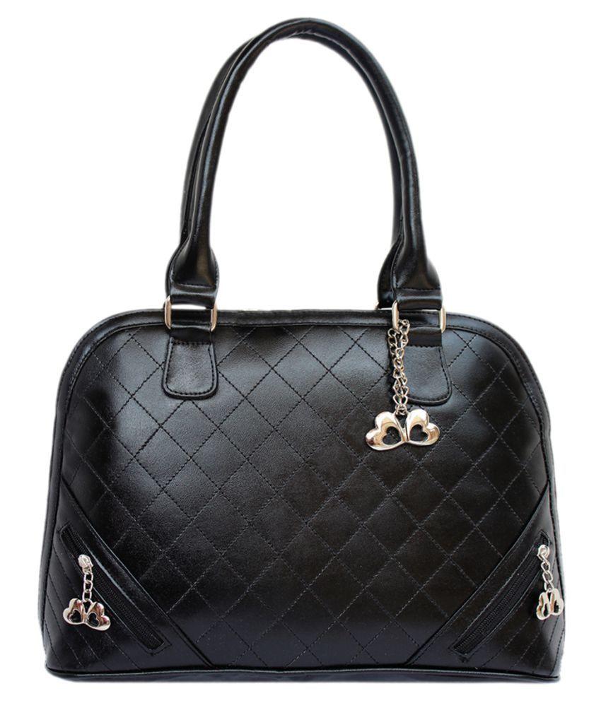 Anglopanglo Black P.U. Shoulder Bag