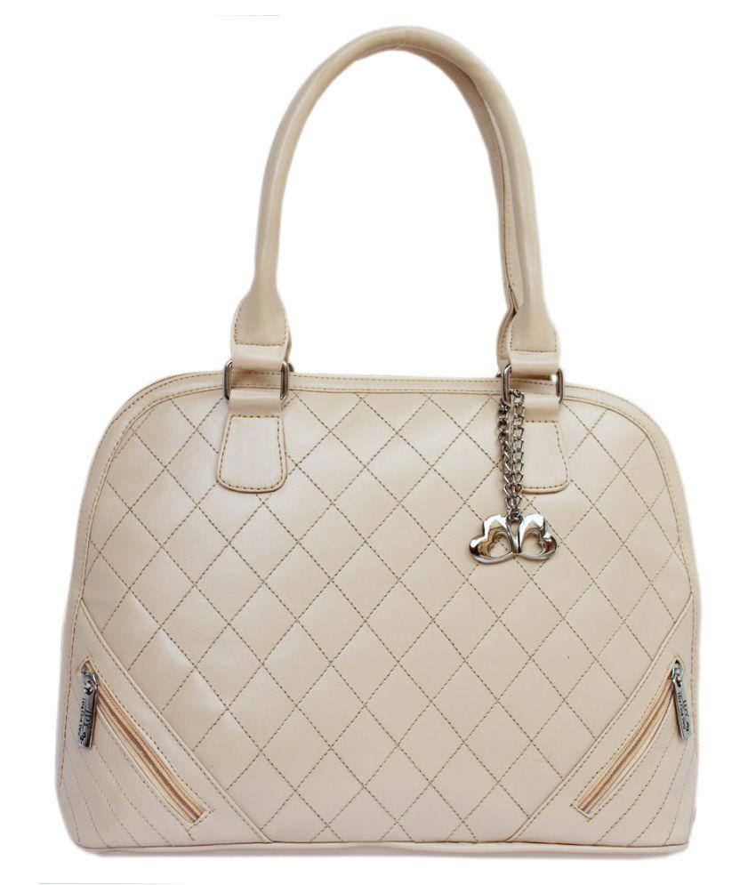 Anglopanglo Cream P.U. Shoulder Bag