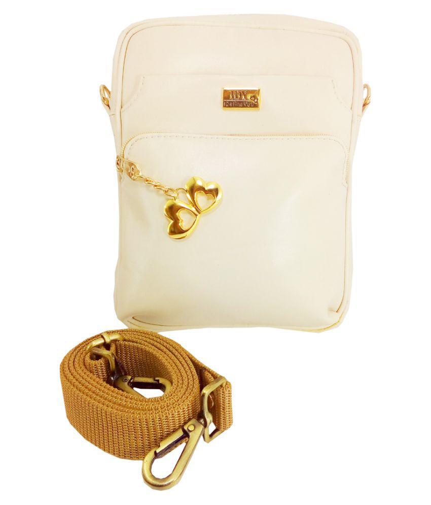 Anglopanglo Cream P.U. Sling Bag