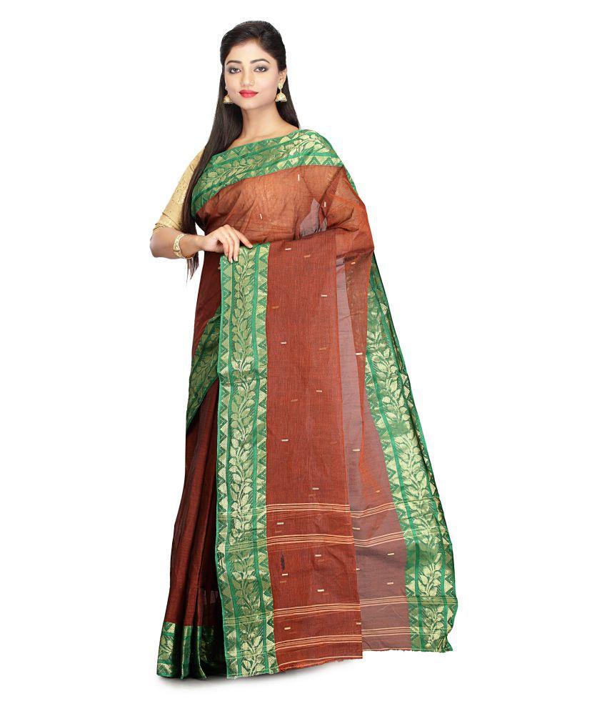 Rudrakshhh Tant Brown Cotton Saree