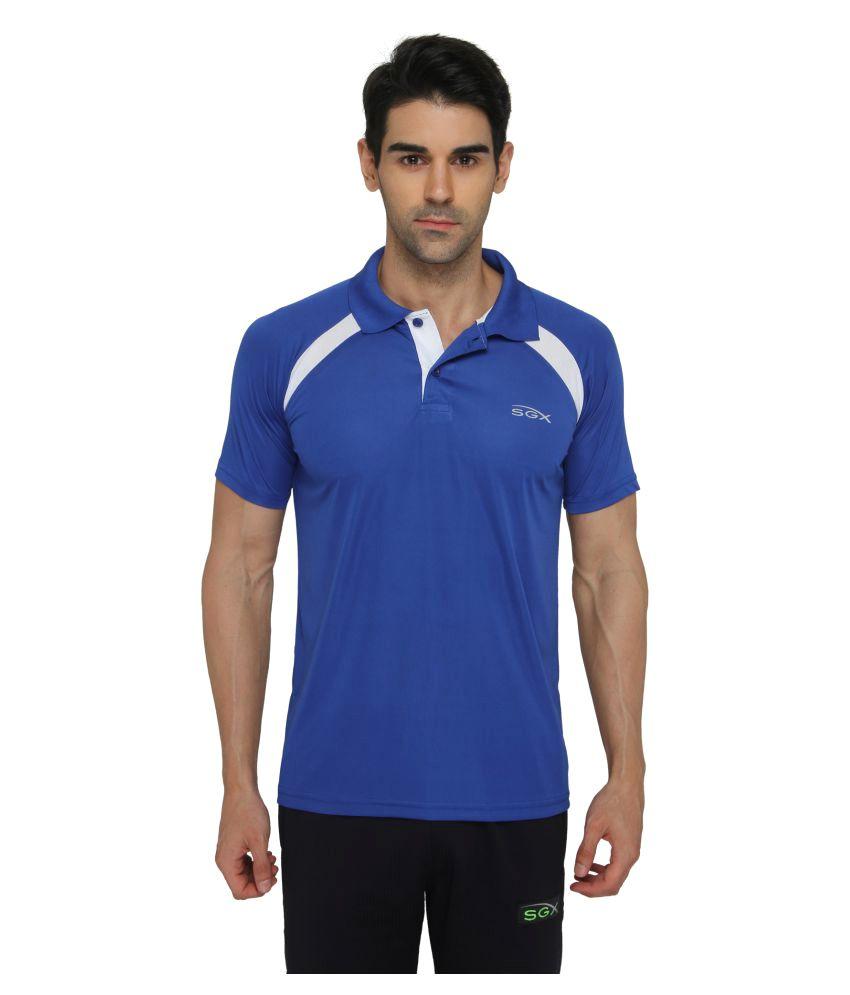 SGX Blue Polyester Polo T-Shirt