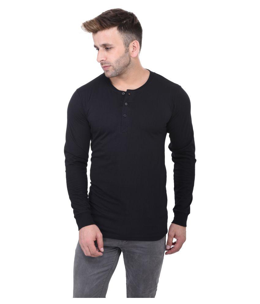 Acomharc Inc Black Henley T-Shirt