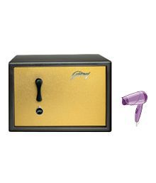 Godrej Safe - Premium Coffer Brown With Free Philips Hair Dryer HP8100