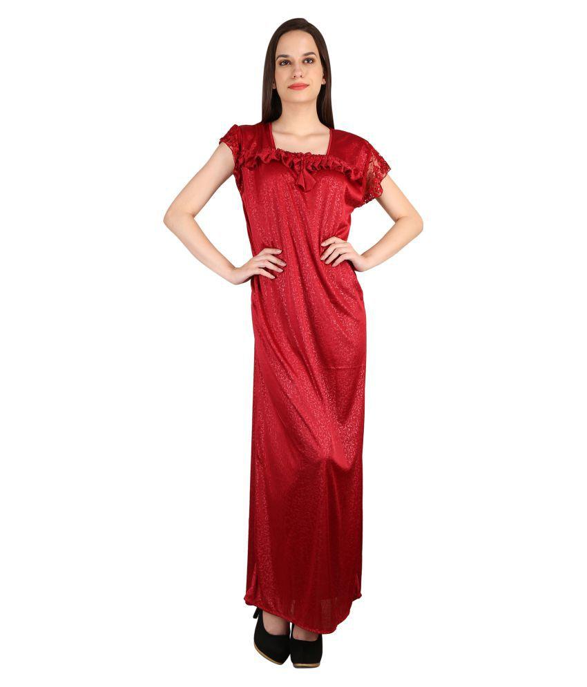 Glossia Satin Nighty & Night Gowns