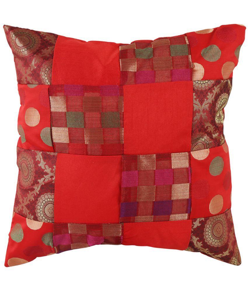 Rajrang Single Polyester Cushion Covers 40X40 cm (16X16)