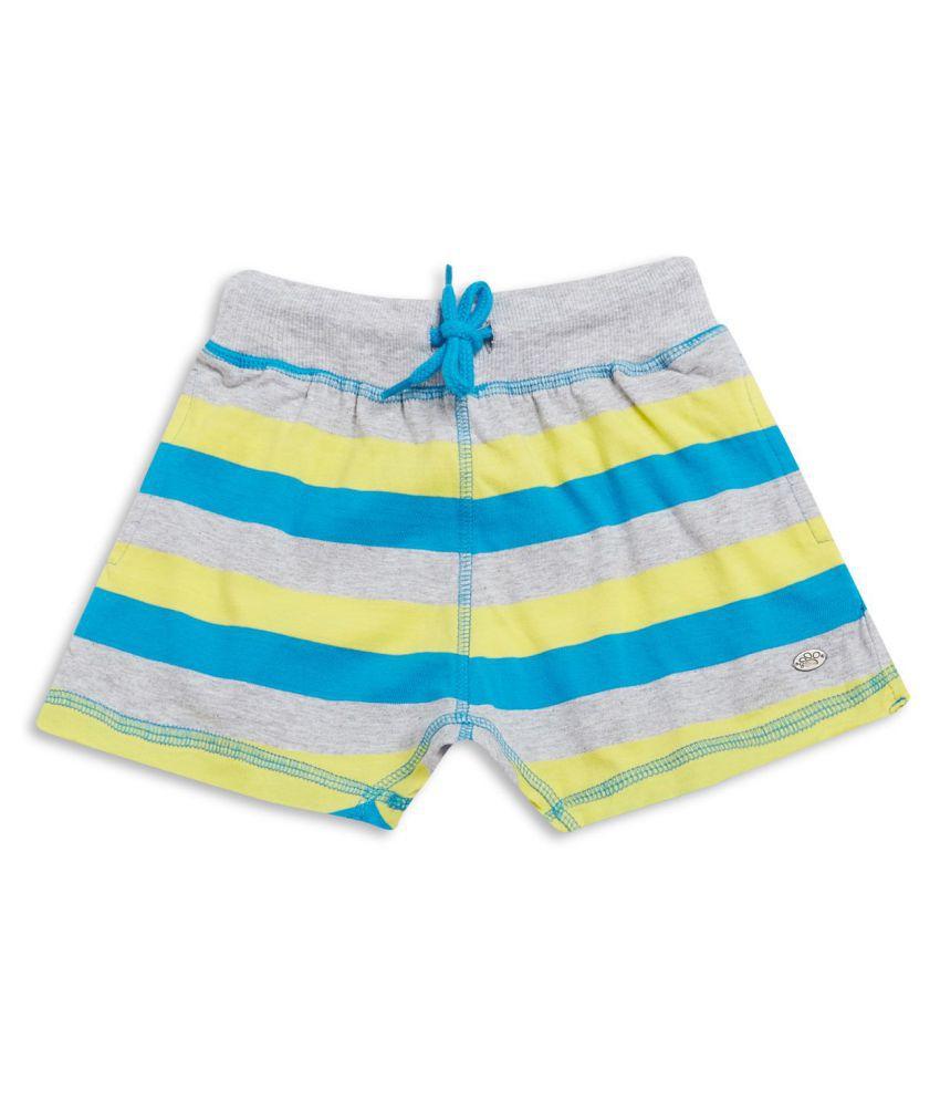 FS MiniKlub Girl's Knit Shorts-Yellow Striper