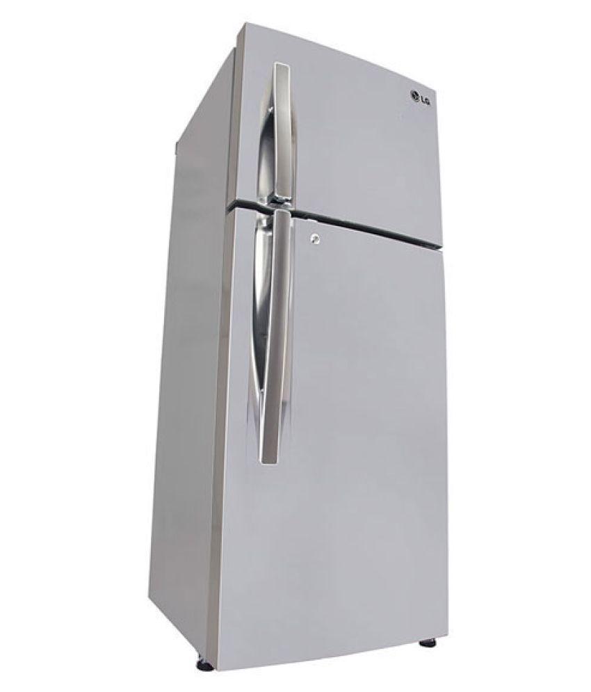 lg refrigerator double door. lg 308 ltr 3 star gl-i322rpzy double door refrigerator - steel lg e