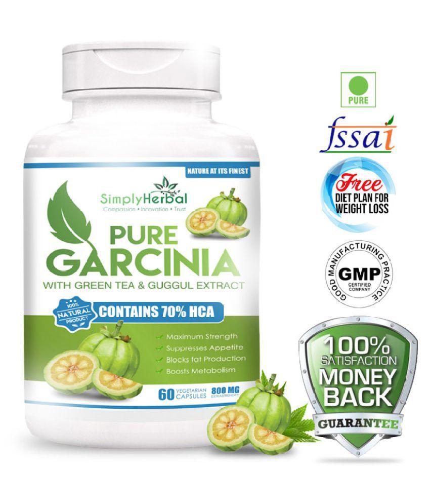 Simply Herbal Garcinia Cambogia 70 Hca Greentea Guggul 800mg 60 No S Fat Burner Capsule