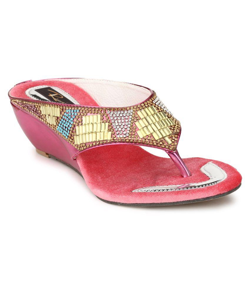 Rimezs Multi Color Wedges Heels