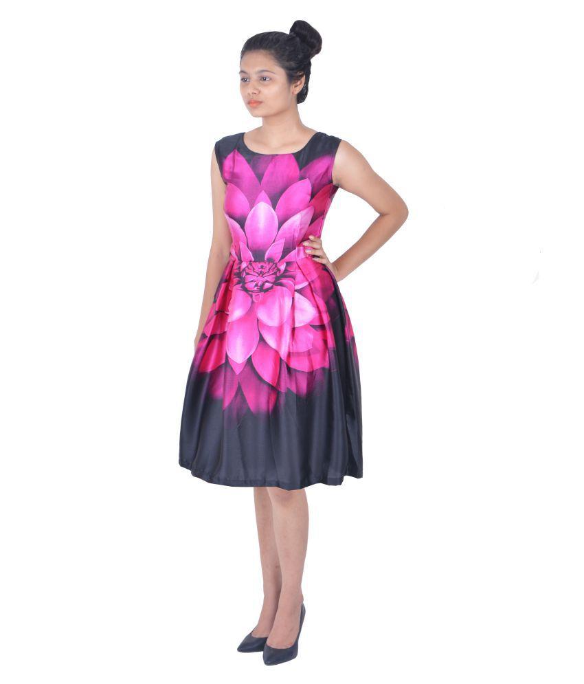 c68af9a858ab ONTIQUE Satin Skater Dress - Buy ONTIQUE Satin Skater Dress Online at Best  Prices in India on Snapdeal