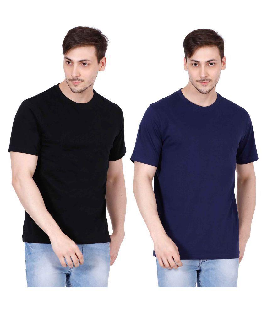 Ojass Multi Round T-Shirt Pack of 2