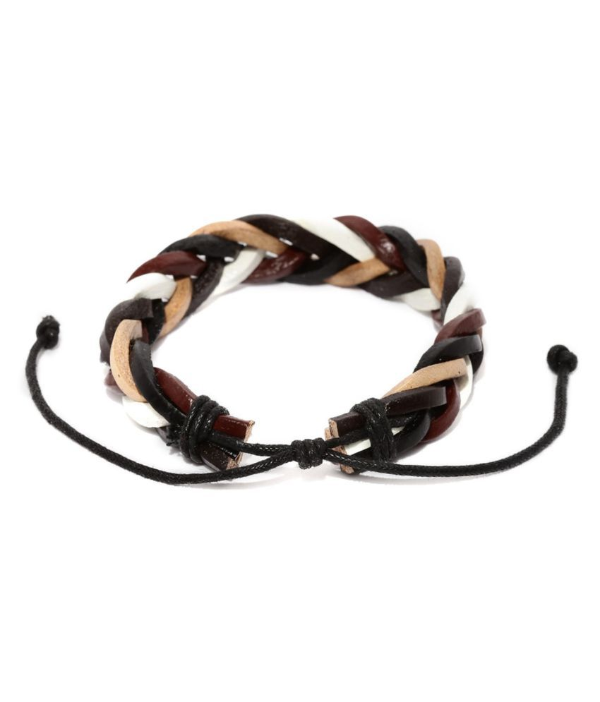 Tipsyfly Western Navajo Leather Braided Bracelet For Men