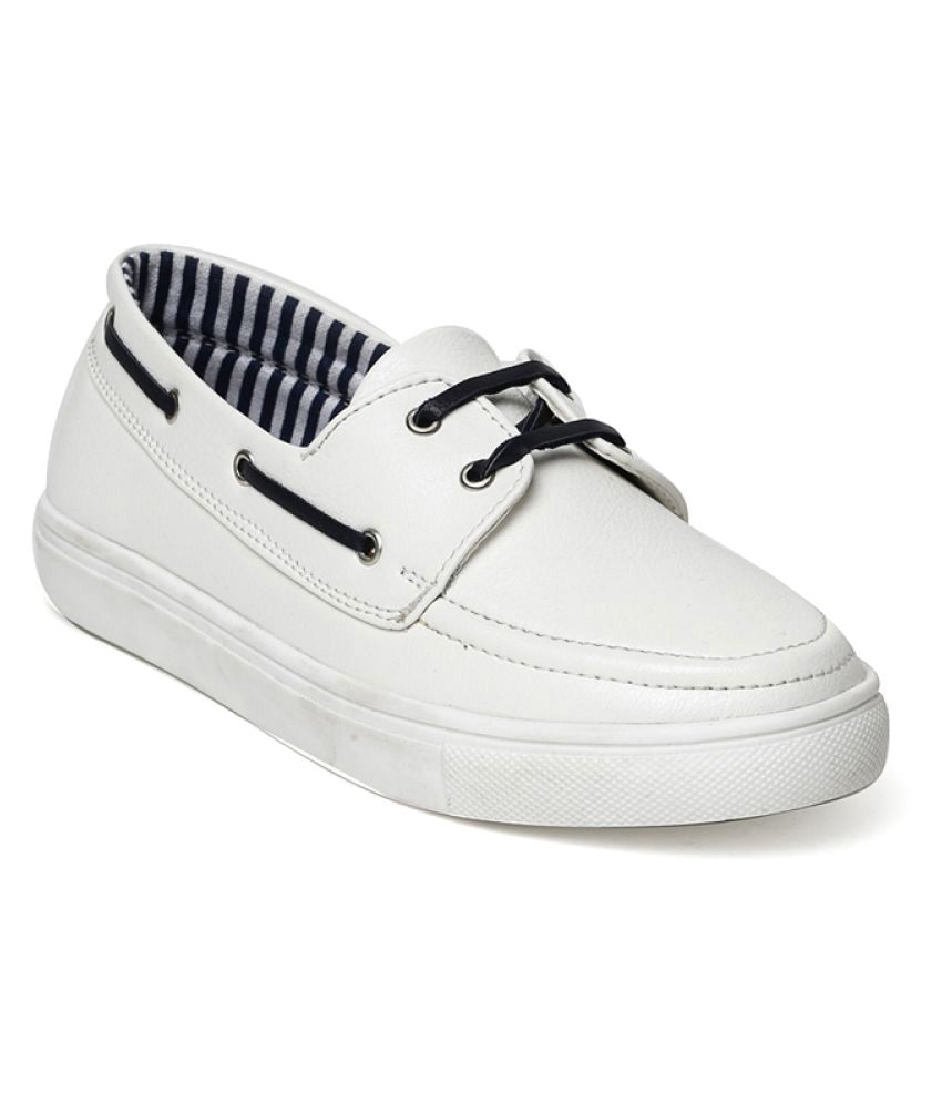 Bruno Manetti White Casual Shoes