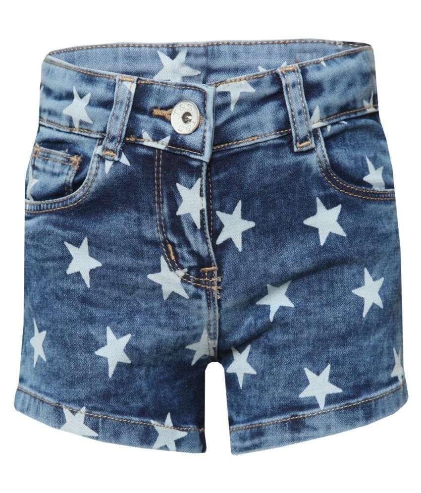 Tales & Stories Girls Denim Blue Shorts