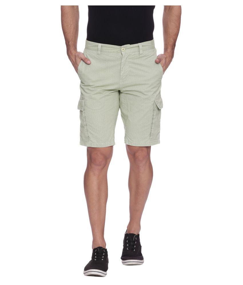 Blue Wave Beige Shorts