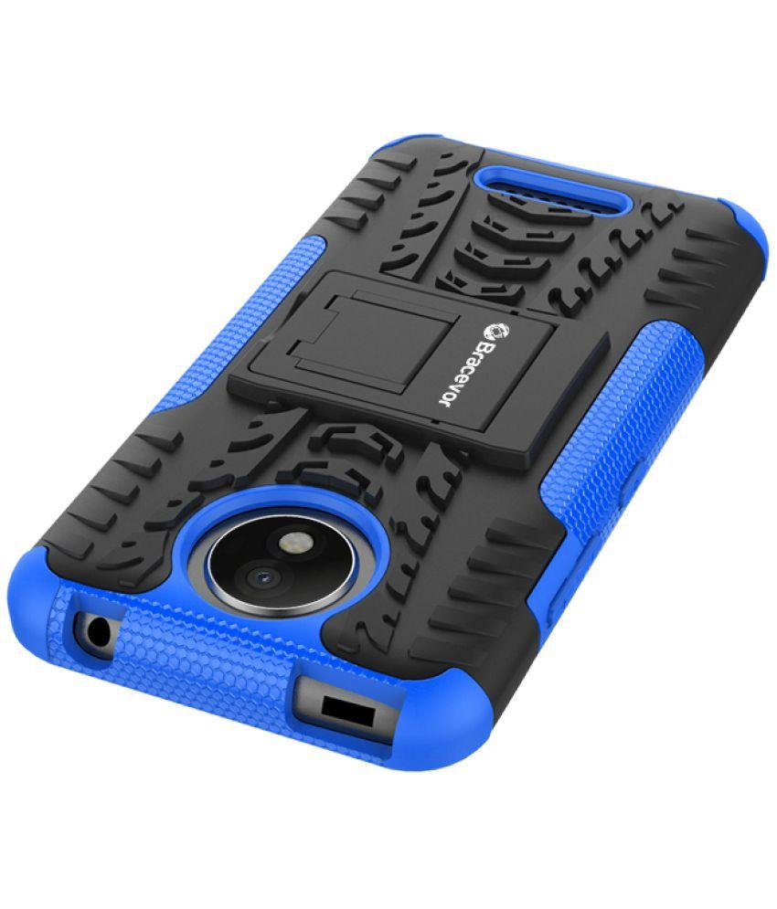 differently 73a02 163bc Moto C Plus Shock Proof Case Bracevor - Blue