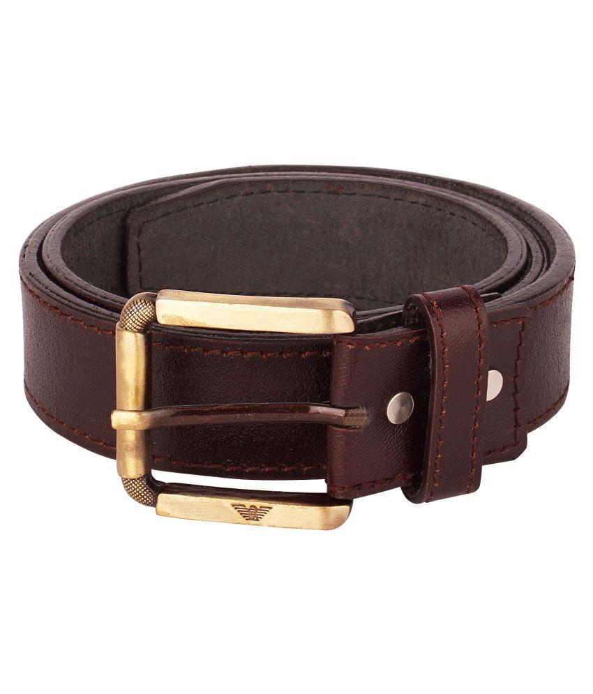 Viaan Retail Brown Leather Formal Belts