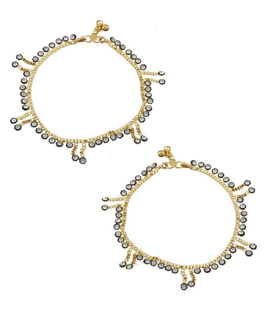 Anuradha Art Golden Finish Designer Classy Trendy Delicate Traditional Anklet/Payal For Women/Girls