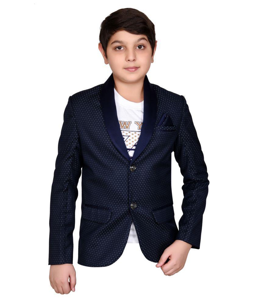 J D Creation Boys Blue Color Designer Blazer For Party Wear U0026 Wedding - Buy J D Creation Boys ...