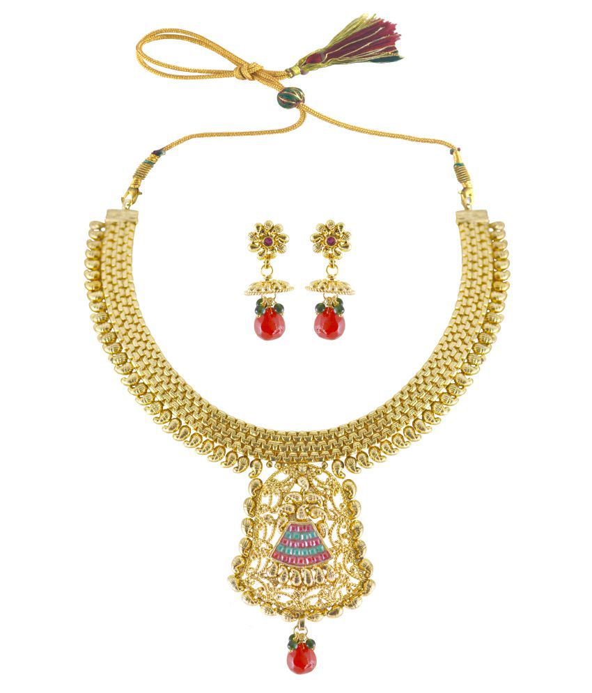Pretty Multicolor Necklace set by Rejewel.