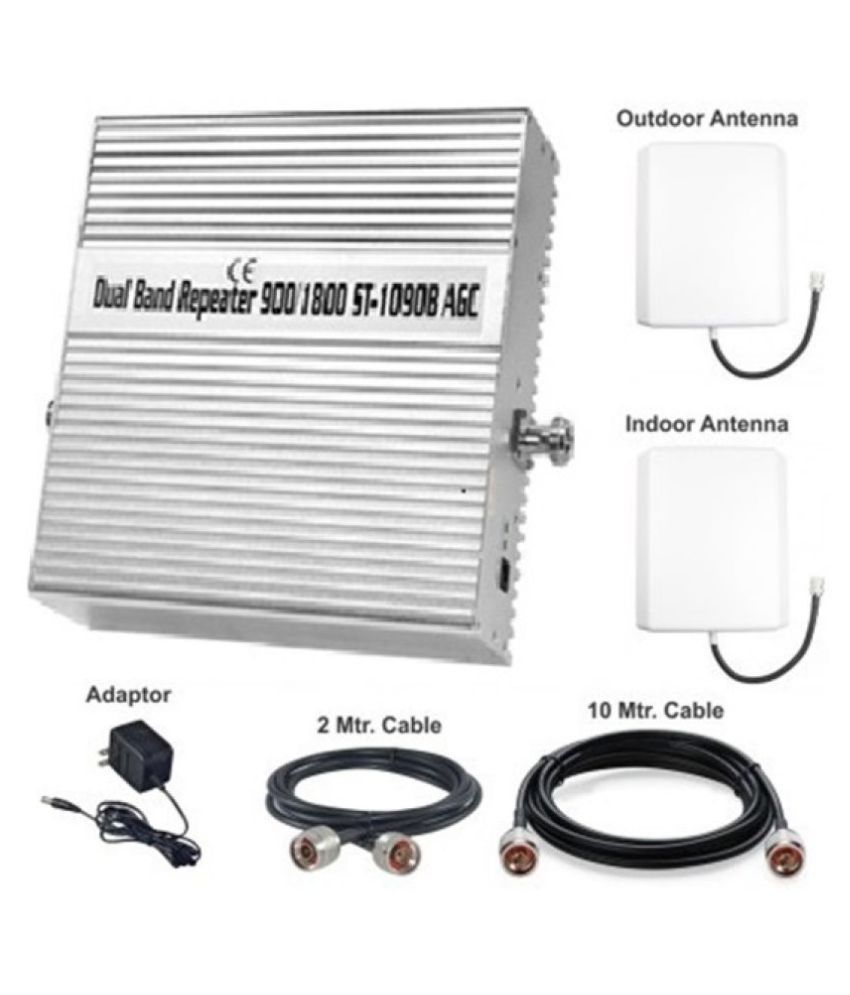 Lintratek ST-1090B 2G + 4G Mobile Cell Phone Signal Booster 3200 4G White