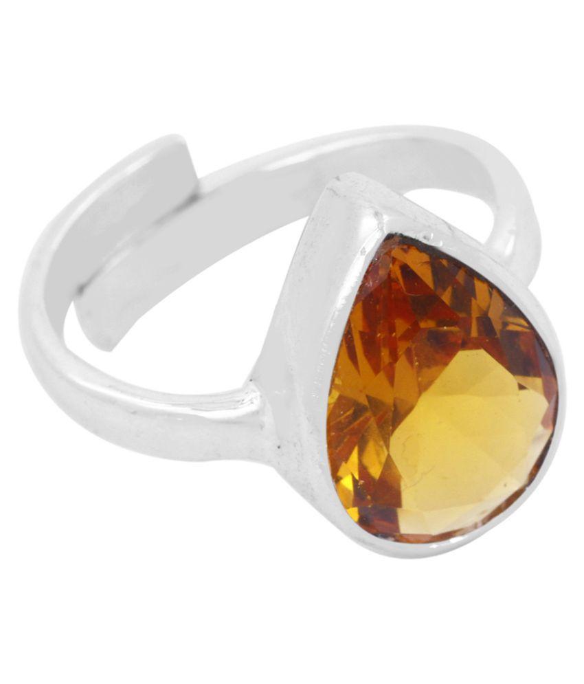 Avaatar 92.5 Silver Citrine Ring
