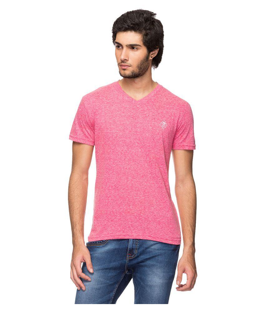 YOO Pink V-Neck T-Shirt