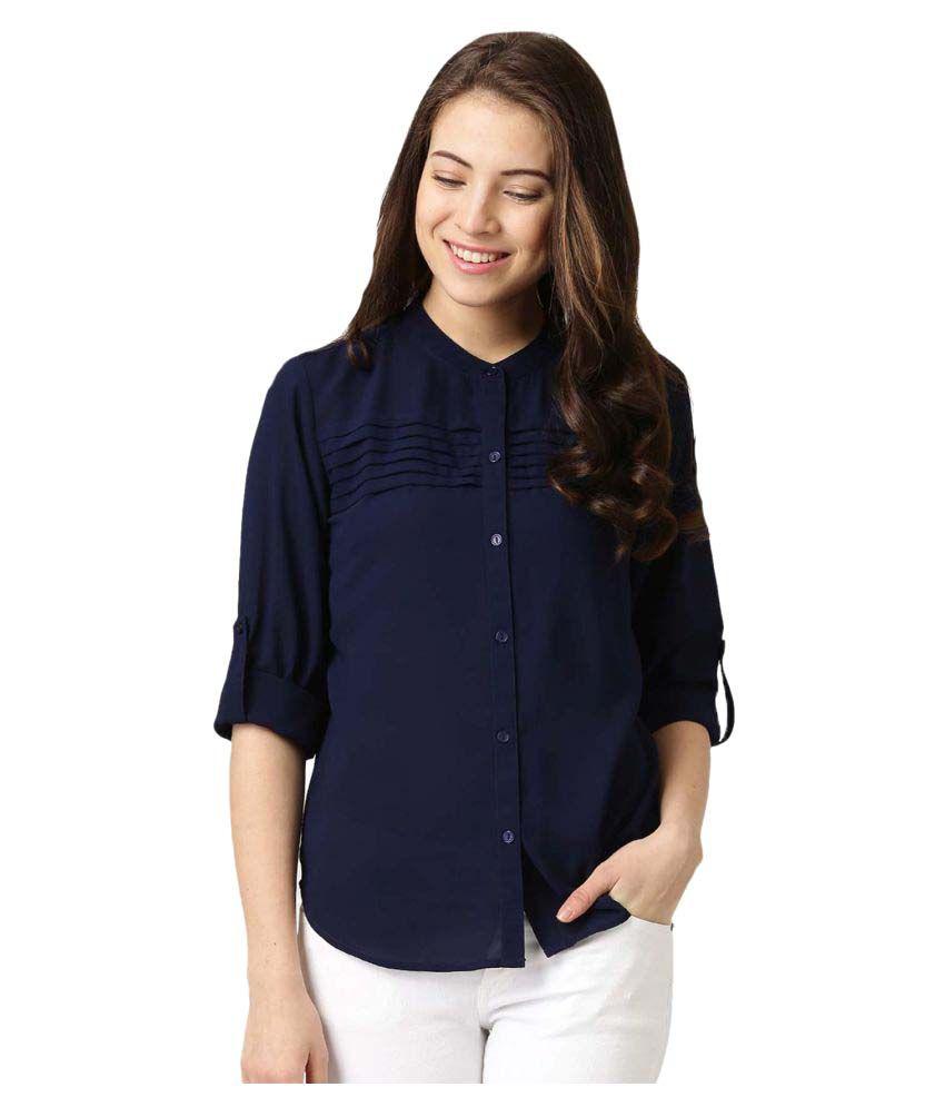 Yukon Blue Poly Crepe Shirt