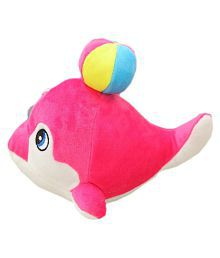 Cute 22cm Colorful Stuffed Dolphin Fish Doll With Soft Ball Toy Kids Baby Plush Gift