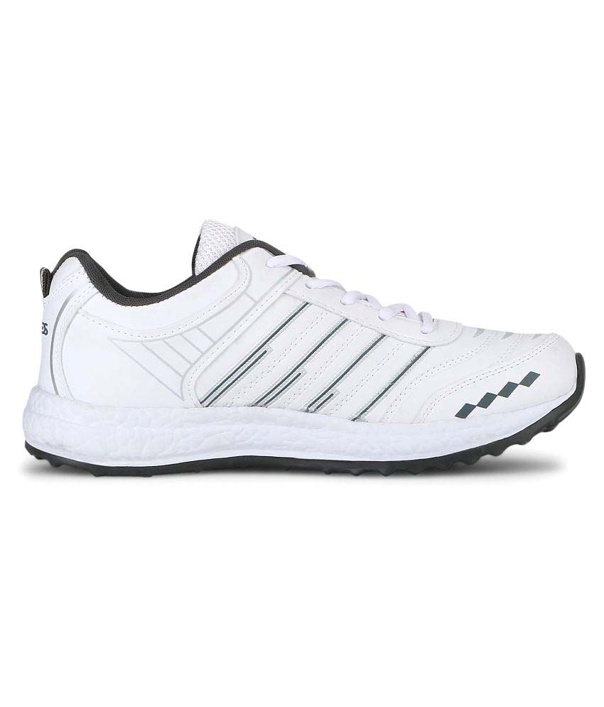 Vios White Solid EVA Sole Running Shoes
