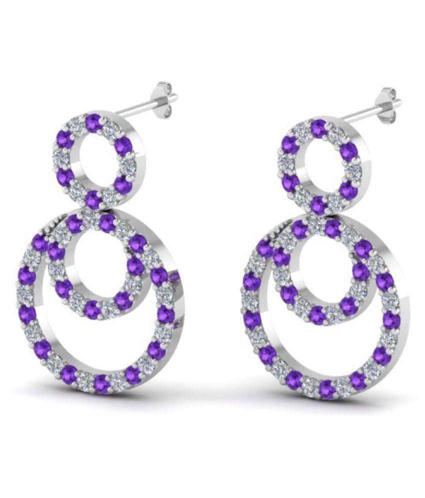 Naitik Jewels 92.5 Silver Cubic zirconia Drop Earrings