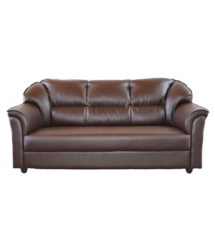 westido manhattan 3 1 1 sofa set in brown leatherette buy westido rh snapdeal com